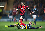 Dundee v St Johnstone....08.11.14   SPFL<br /> Michael O'Halloran is tackled by James McPake<br /> Picture by Graeme Hart.<br /> Copyright Perthshire Picture Agency<br /> Tel: 01738 623350  Mobile: 07990 594431
