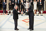 Pedro Ferrándiz González and King Felipe VI of Spain attends to the National Sports Awards 2015 at El Pardo Palace in Madrid, Spain. January 23, 2017. (ALTERPHOTOS/BorjaB.Hojas)