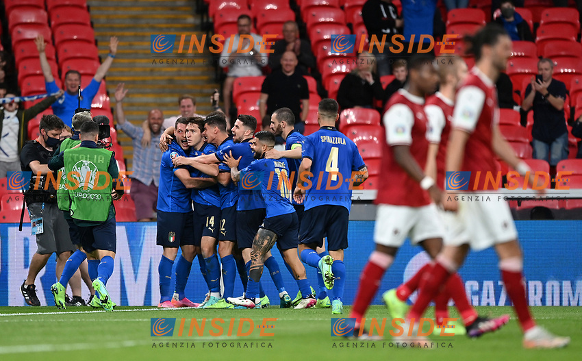 LONDON, ENGLAND - JUNE 26:  during the UEFA Euro 2020 Championship Round of 16 match between Italy and Austria at Wembley Stadium at Wembley Stadium on June 26, 2021 in London, England. (Photo by Shaun Botterill - UEFA/UEFA via Getty Images)<br /> Photo Uefa/Insidefoto ITA ONLY
