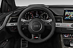 Car pictures of steering wheel view of a 2018 Audi S8 Plus quattro Tiptronic 4 Door Sedan