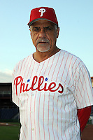 Feb 20, 2009; Clearwater, FL, USA; The Philadelphia Phillies coach Dave Lopes (15) during photoday at Bright House Field. Mandatory Credit: Tomasso De Rosa/ Four Seam Images