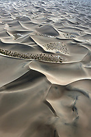 aerial photograph of dunes Death Valley National Park, northern Mojave Desert, California