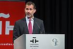 Spanish king Felipe VI during the commemorating event  of the centenary of the birth of Camilo Jose Cela at Cervantes institute in Madrid. September 07, 2016. (ALTERPHOTOS/Rodrigo Jimenez)