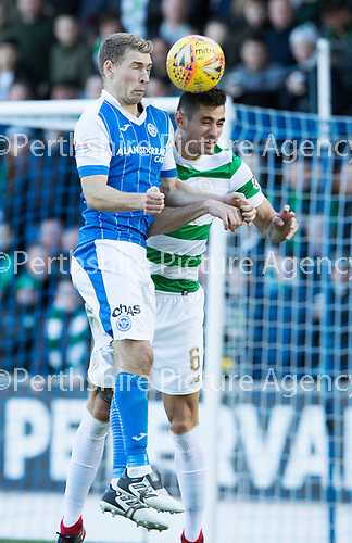 St Johnstone v Celtic…04.11.17…  McDiarmid Park…  SPFL<br />David Wotherspoon and Nir Bitton<br />Picture by Graeme Hart. <br />Copyright Perthshire Picture Agency<br />Tel: 01738 623350  Mobile: 07990 594431