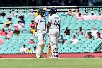 9th January 2021; Sydney Cricket Ground, Sydney, New South Wales, Australia; International Test Cricket, Third Test Day Three, Australia versus India; Ravindra Jadeja and Hanuma Vihari of India