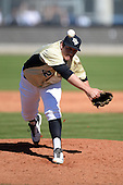 Central Florida Knights pitcher Trent Thompson (42) during a game against the Siena Saints at Jay Bergman Field on February 16, 2014 in Orlando, Florida.  UCF defeated Siena 9-6.  (Copyright Mike Janes Photography)