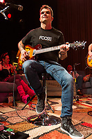 """Guitarist Chris Henderson of 3 Doors Down performs on stage during the acoustic """"Songs From the Basement"""" tour at the House of Blues on Tuesday January 14, 2014 in Los Angeles, CA. (Photo by: Paul A. Hebert / Press Line Photos)"""