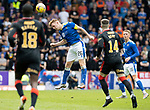 St Johnstone v Rangers…11.09.21  McDiarmid Park    SPFL<br />Liam Craig heads clear<br />Picture by Graeme Hart.<br />Copyright Perthshire Picture Agency<br />Tel: 01738 623350  Mobile: 07990 594431