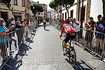 Race leader Primoz Roglic (SLO) Jumbo-Visma heads to sign on before Stage 19 of La Vuelta d'Espana 2021, running 191.2km from Tapia de Casariego to Monforte de Lemos, Spain. 3rd September 2021.    <br /> Picture: Luis Angel Gomez/Photogomezsport   Cyclefile<br /> <br /> All photos usage must carry mandatory copyright credit (© Cyclefile   Luis Angel Gomez/Photogomezsport)