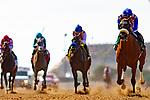 DEL MAR,CA-SEPTEMBER 01: Bellafina #5,ridden by Flavien Prat, wins the Del Mar Debutante at Del Mar Race Track on September 1,2018 in Del Mar,California (Photo by Kaz Ishida/Eclipse Sportswire/Getty Images)