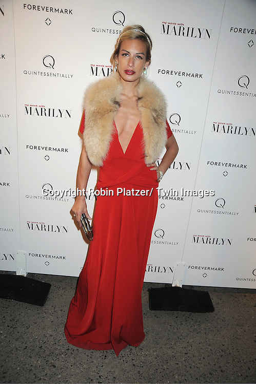 """Alexa Winner attends The New York Premiere of """"My Week With Marilyn"""" on November 13, 2011 at the Paris Theatre in New York City. The movie stars Michelle Williams, Kenneth Branagh, Dominic Cooper and Zoe Wanamaker."""