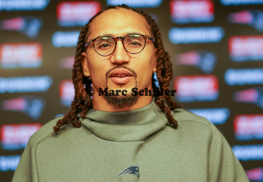Der deutsche FB Jakob Johnson spielt für den amtierenden Super Bowl Champion New England Patriots - 10.12.2019: New England Patriots, Gillette Stadium Foxboro