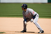 6 April 2008: Indians' #7 Jamey Carroll is seen during the Cleveland Indians 2-1 victory over the Oakland Athletics at the McAfee Coliseum in Oakland, CA.