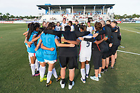 Bradenton, FL - Friday, June 08, 2018: USA during a U-17 Women's Championship match between the United States and Canada at IMG Academy.  USA defeated Canada 1-0 to take top spot in their group and advance to the semifinals.