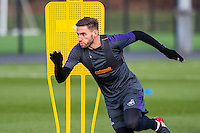 Wednesday 08 February 2017<br /> Pictured: Angel Rangel in action<br /> Re: Swansea City FC training session at the Fairwood training ground, Swansea, Wales, UK