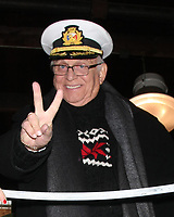 "LOS ANGELES - DEC 30:  Gavin MacLeod at the Original ""Love Boat"" Cast decorates Princess Cruises' Rose Parade Float at a Rosemont Pavilion on December 30, 2014 in Pasadena, CA"