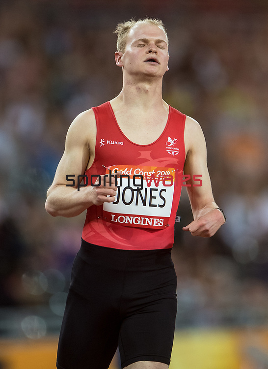 Wales Rhys Jones (para) competes in the Men's T38 100m Final <br /> <br /> *This image must be credited to Ian Cook Sportingwales and can only be used in conjunction with this event only*<br /> <br /> 21st Commonwealth Games  -  Day 5 - 09\04\2018 - Carrara Stadium - Gold Coast City - Australia
