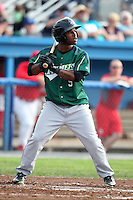 Jamestown Jammers outfielder Marquise Cooper #9 during a game against the Batavia Muckdogs at Dwyer Stadium on June 27, 2011 in Batavia, New York.  Batavia defeated Jamestown 4-3.  (Mike Janes/Four Seam Images)