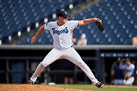Tampa Tarpons pitcher Matt Sauer (47) during a game against the Jupiter Hammerheads on July 2, 2021 at George M. Steinbrenner Field in Tampa, Florida.  (Mike Janes/Four Seam Images)