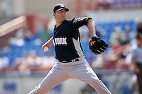 February 25, 2009:  Pitcher Brett Tomko (28) of the New York Yankees during a Spring Training game at Dunedin Stadium in Dunedin, FL.  The New York Yankees defeated the Toronto Blue Jays 6-1.   Photo by:  Mike Janes/Four Seam Images