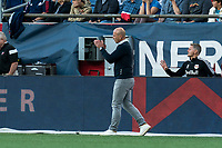 FOXBOROUGH, MA - JUNE 23: New York Red Bulls coach Gerhard Struber during a game between New York Red Bulls and New England Revolution at Gillette Stadium on June 23, 2021 in Foxborough, Massachusetts.