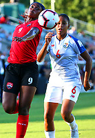 Cary, NC - October 4, 2018:  Panama   defeated Trinidad and Tobago 3-0 during the group stage of the 2018 CONCACAF Women's Championship at WakeMed Soccer Park.