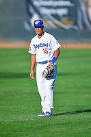 Luis Paz (15) of the Ogden Raptors before the game against the Missoula Osprey in Pioneer League action at Lindquist Field on July 13, 2016 in Ogden, Utah. Ogden defeated Missoula 8-2. (Stephen Smith/Four Seam Images)