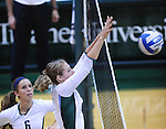 Tulane defeats South Alabama, 3-2, in the Kathy Trosclair Memorial Volleyball Tournament hosted at Tulane University.