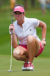 CHON BURI, THAILAND - FEBRUARY 17:  Paula Creamer of USA lines up a putt on the 3rd green during day one of the LPGA Thailand at Siam Country Club on February 17, 2011 in Chon Buri, Thailand.  Photo by Victor Fraile / The Power of Sport Images