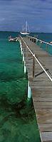 Iles Bahamas /Ile d'Eleuthera/Harbour Island: ponton de l'Hotel Romora Bay