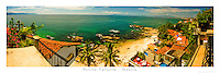 12x36 inch poster of the view of Playa Conchas Chinas in Puerto Vallarta, Mexico.