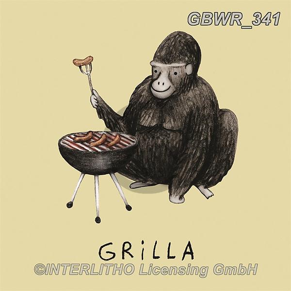 Simon, REALISTIC ANIMALS, REALISTISCHE TIERE, ANIMALES REALISTICOS, innovativ, paintings+++++SophieCorrigan_Grilla,GBWR341,#a#, EVERYDAY