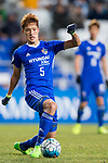 Ulsan Hyundai Midfielder Park Yongwoo in action during their AFC Champions League 2017 Playoff Stage match between Ulsan Hyundai FC (KOR) vs Kitchee SC (HKG) at the Ulsan Munsu Football Stadium on 07 February 2017 in Ulsan, South Korea. Photo by Chung Yan Man / Power Sport Images