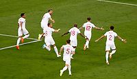MOSCU - RUSIA, 11-07-2018: Kieran TRIPPIER (#12) jugador de Inglaterra celebra después de anotar el primer gol de su equipo a Croacia durante partido de Semifinales por la Copa Mundial de la FIFA Rusia 2018 jugado en el estadio Luzhnikí en Moscú, Rusia. / Kieran TRIPPIER (#12) player of England celebrates after scoring the first goal of his team to Croatia during match of Semi-finals for the FIFA World Cup Russia 2018 played at Luzhniki Stadium in Moscow, Russia. Photo: VizzorImage / Julian Medina / Cont