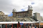 Gornergrat train at the summit observatory above Zermatt, Switzerland.