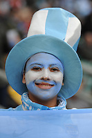 A young Argentinian fan during the Semi Final of the Rugby World Cup 2015 between Argentina and Australia - 25/10/2015 - Twickenham Stadium, London<br /> Mandatory Credit: Rob Munro/Stewart Communications