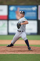 Pulaski Yankees relief pitcher Will Jones (29) in action against the Danville Braves at American Legion Post 325 Field on July 31, 2016 in Danville, Virginia.  The Yankees defeated the Braves 8-3.  (Brian Westerholt/Four Seam Images)