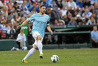 Javi Garcia (14) Manchester City in action..Manchester City defeated Chelsea 4-3 in an international friendly at Busch Stadium, St Louis, Missouri.