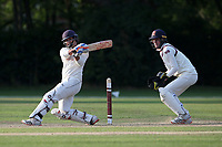 Jonathan Das hits 4 runs for  Wanstead during Brentwood CC vs Wanstead and Snaresbrook CC, Essex Cricket League Cricket at The Old County Ground on 12th September 2020