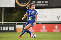 Lobke Loonen (19) of AA Gent Ladies pictured during a female soccer game between RSC Anderlecht Dames and AA Gent Ladies  on the fourth matchday of the 2021 - 2022 season of Belgian Womens Super League , friday 10 th of September 2021 in Overijse , Belgium . PHOTO SPORTPIX | DIRK VUYLSTEKE