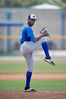 Toronto Blue Jays relief pitcher Kelyn Jose (83) delivers a pitch during a Florida Instructional League game against the Pittsburgh Pirates on September 20, 2018 at the Englebert Complex in Dunedin, Florida.  (Mike Janes/Four Seam Images)