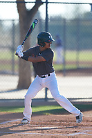 Andrew Pompa (44), from Dinuba, California, while playing for the Giants during the Under Armour Baseball Factory Recruiting Classic at Red Mountain Baseball Complex on December 28, 2017 in Mesa, Arizona. (Zachary Lucy/Four Seam Images)
