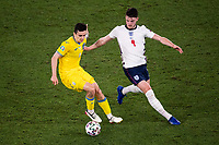 3rd July 2021, Stadio Olimpico, Rome, Italy;  Euro 2020 Football Championships, England versus Ukraine quarter final;  Mykola Shaparenko Ukraine against Declan Rice England