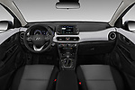 Stock photo of straight dashboard view of a 2019 Hyundai Kona SEL AUTO 5 Door SUV