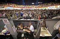 David Muntaner (ESP) getting a massage in between runs<br /> <br /> Gent6 2013