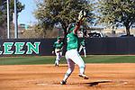 LoveMena Green softball v ACU at Softball Field in Denton on February 23, 2021