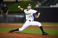 UCF Knights relief pitcher Andrew Rohloff (29) delivers a pitch during a game against the Siena Saints on February 17, 2017 at UCF Baseball Complex in Orlando, Florida.  UCF defeated Siena 17-6.  (Mike Janes/Four Seam Images)