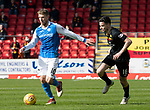 St Johnstone v Partick Thistle…28.04.18…  McDiarmid Park    SPFL<br />David Wotherspoon and Paul McGinn<br />Picture by Graeme Hart. <br />Copyright Perthshire Picture Agency<br />Tel: 01738 623350  Mobile: 07990 594431