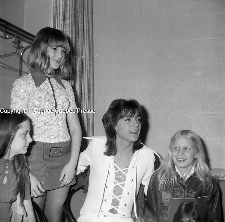 la vedette David Cassidy au Forum de Montreal, 3 avril 1972.<br /> <br /> American Pop Star David Cassidy perform at The Forum, Montreal, Canada<br /> April 3, 1972<br /> <br /> PHOTO :  Agence Quebec Presse - Roland Lachance