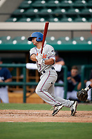 St. Lucie Mets second baseman Vinny Siena (9) follows through on a swing during a game against the Lakeland Flying Tigers on June 11, 2017 at Joker Marchant Stadium in Lakeland, Florida.  Lakeland defeated St. Lucie 1-0.  (Mike Janes/Four Seam Images)